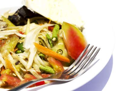 Papaya salad thai cuisine spicy delicious photo