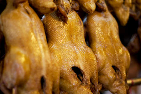 Roasting chicken Stock Photo