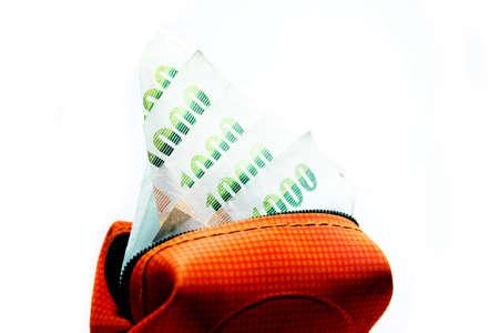 close up money pocket on white background Stock Photo - 15845680