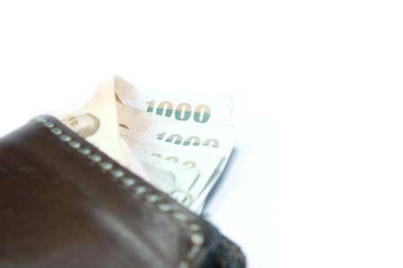 money pocket 1000 bath thailand on white background Stock Photo - 15845671