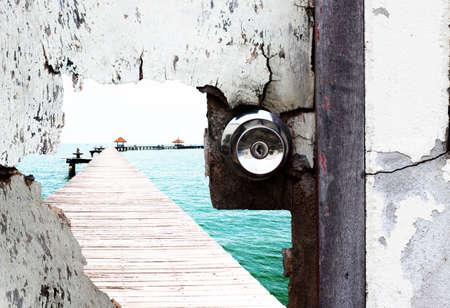 door and sea