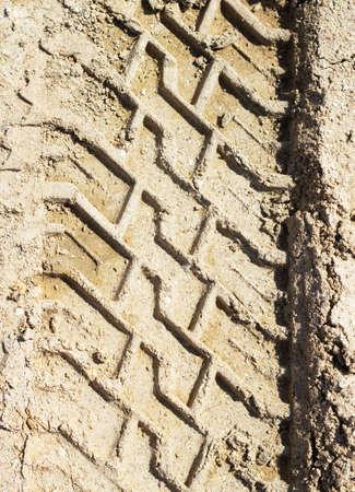 Wheel tracks Stock Photo - 16969841