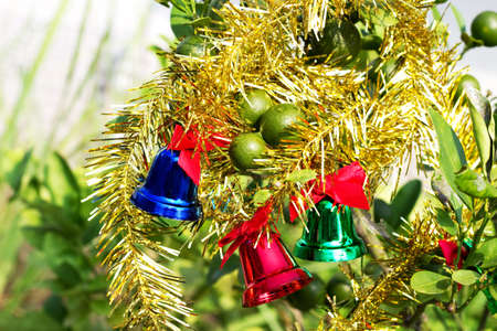 bell for christmas on tree
