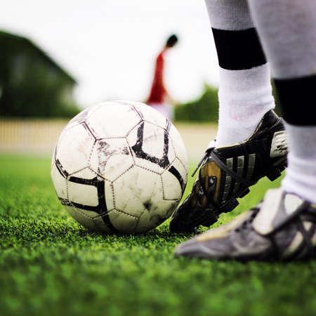 begin: Begin to play football Stock Photo