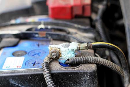 check battery car Stock Photo