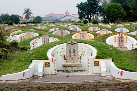 Chinese tomb and graveyard