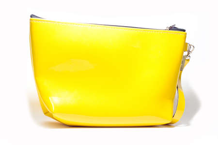 yellow handbag on a white background photo
