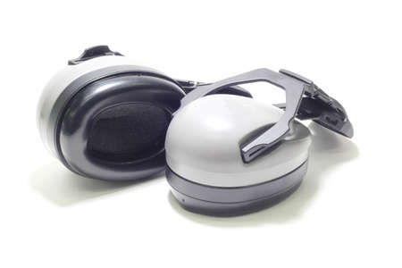 defenders: isolated white background Ear muffs or defender