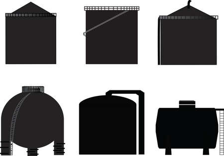 vector, icon storage tank for oil  Ilustracja