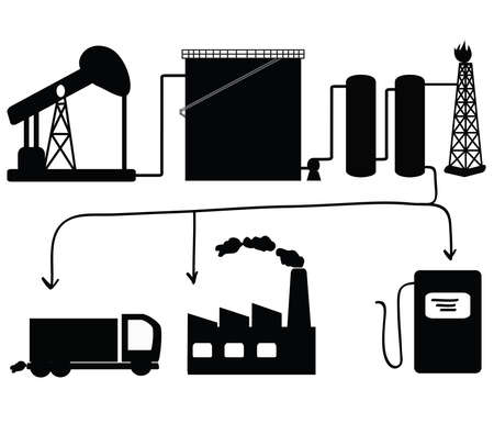 chemical industry: Oil and petroleum icon set