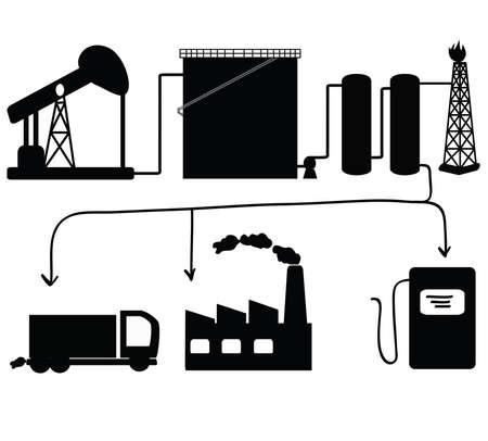 industria quimica: Petróleo y sus derivados icon set