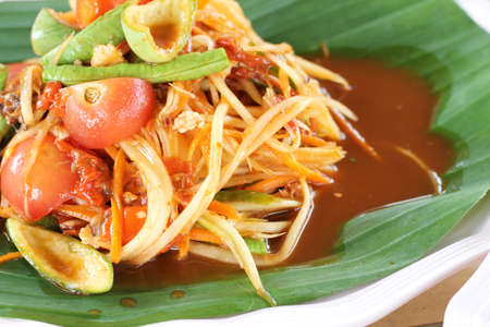 Thai food Papaya Salad photo