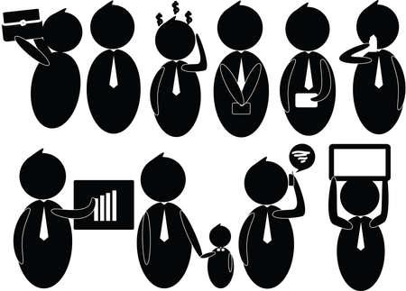vector Businessman Employee Worker Office Vector