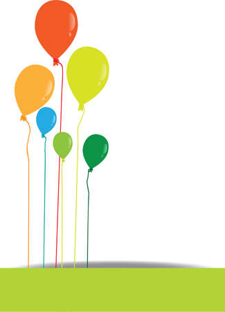 vector multicolored balloons on white background Illustration