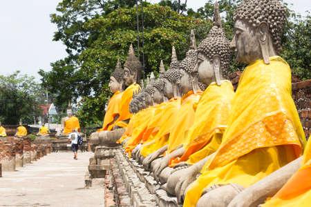 far east: estatuas de Buda en Ayutthaya, Tailandia lugares públicos Foto de archivo