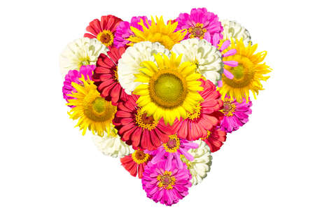 mix flower hart shape for valentine Stock Photo