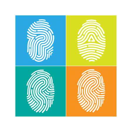 fingerprint: fingerprint icon  Vector Illustration Illustration