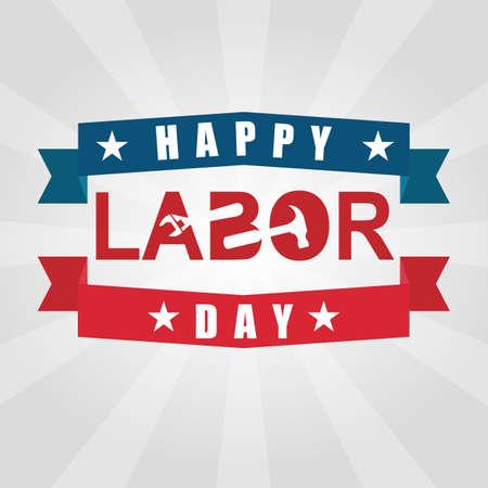 happy labor day. Vettoriali