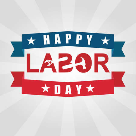 national freedom day: happy labor day. Illustration