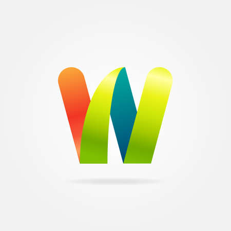 Vector illustration of letter W