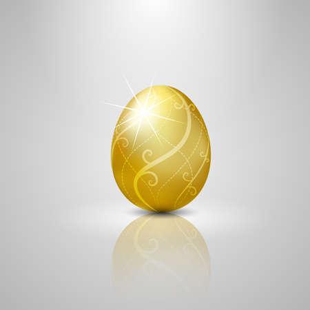 high flown: Easter golden egg.vector illustration Background