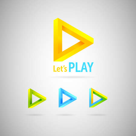 triangle objects: Triangle abstract logo.Colorful impossible geometric shapes.vector illustration