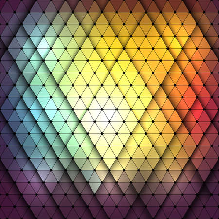 light reflex: Colorful abstract polygon and Geometric background.Vector illustration Illustration