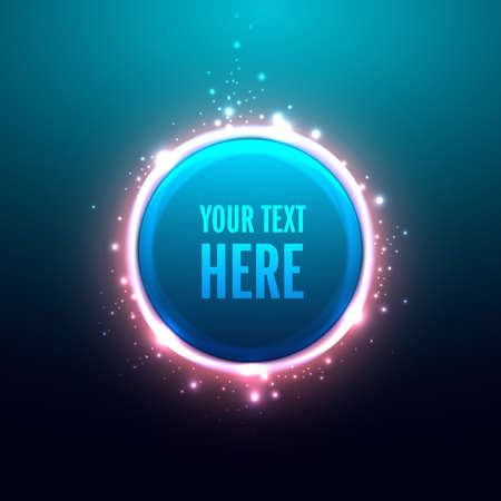 Glossy Circle and Abstract background.Vector illustration