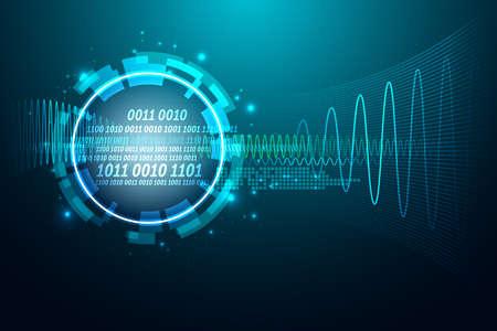 技術の背景を抽象化します。セキュリティ システムのコンセプト。ベクトル図