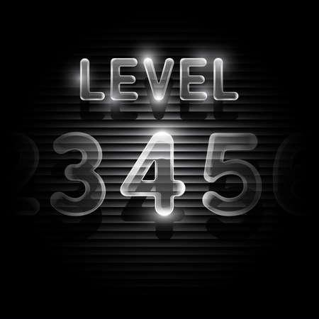 levels: Transparent level 4 screen on dark