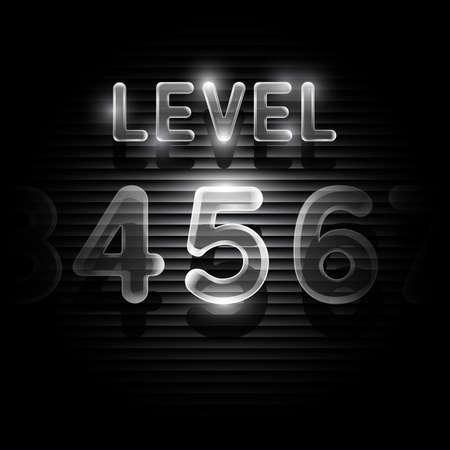 levels: Transparent level 5 screen on dark