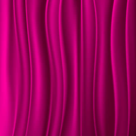 wavy background: Magenta curtain abstract background Illustration