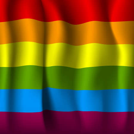 rainbow colors: realistic rainbow flag.vector illustration
