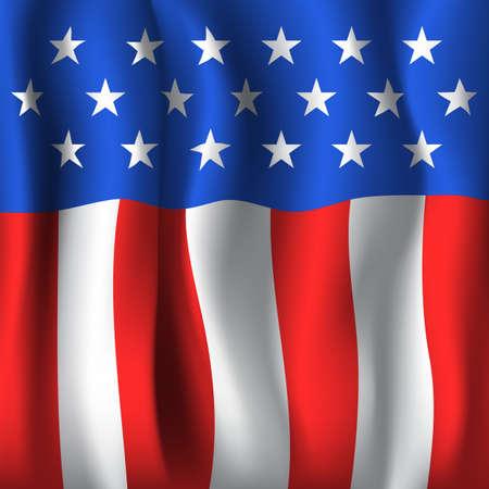 American flag style background Reklamní fotografie - 43592378