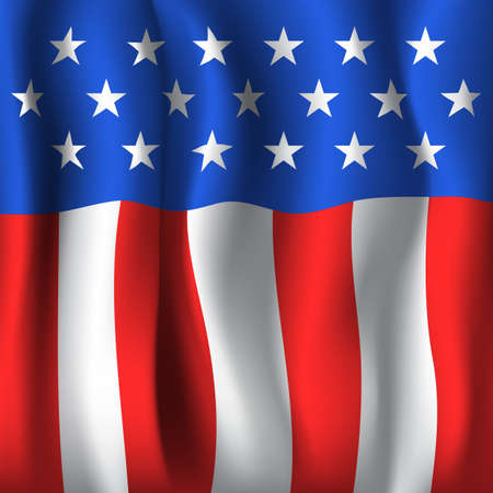 American flag style background