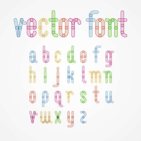c r t: Lower Case colorful alphabet capital letters.a,b,c,d,e,f,g,h,i,j,k,l,m,n,o,p,q,r,s,t,u,v,w,x,y,z. Vector illustration.
