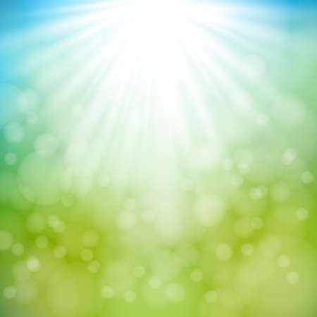 lime: Spring and Summer background with bokeh and sun lights.Blurred soft backdrop.illustration