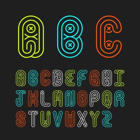 Alphabetic fonts capital letters Illustration