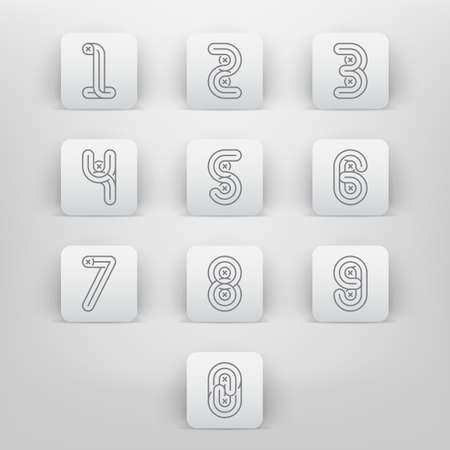 alphabetic: Mono lines style Alphabetic fonts Numbers set.
