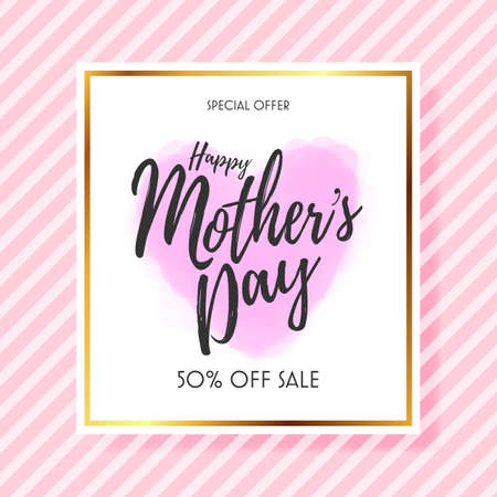 Mothers day sale pattern layout for banners,flyers, invitation, posters, brochure, voucher discount.Vector illustration template.