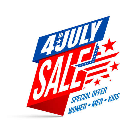 Independence day 4 th july Sale, Happy USA Independence Day 4 th July Illustration