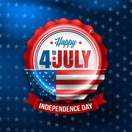 独立記念日 4 th 7 月。幸福な米国独立記念日 4 th July.Vector の図