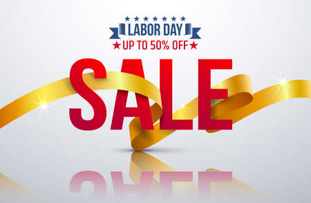 Labor Day Sale promotion advertising banner template.Vector illustration. Vector Illustration