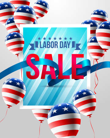 Happy Labor Day with balloons template.American labor day Brochures,Poster or Banner.Vector illustration