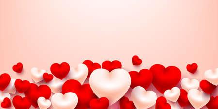 甘い心を持つバレンタインハートの背景。ベクトルイラスト EPS 10  イラスト・ベクター素材