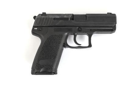 geweer, pistool, op een witte achtergrond Stockfoto