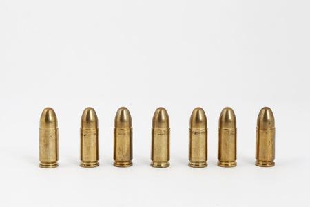 many bullets on a white background