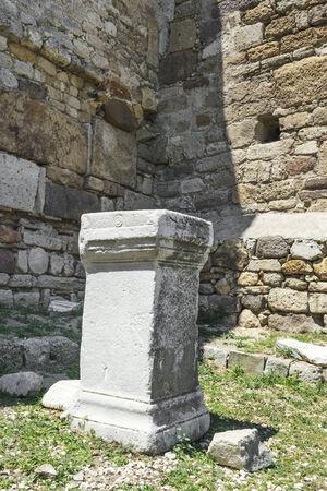 Byzantine castle ruins in Enez of Turkey