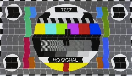 Geen signaal testen tv-scherm kaart Stockfoto