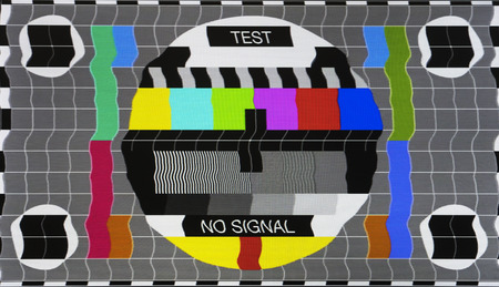 tv screen: No signal test tv screen card